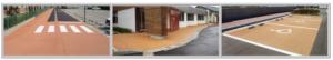 瓦骨材利用薄層舗装材 K-グランドコートシリーズ(ノンスリップタイプ) 施工写真